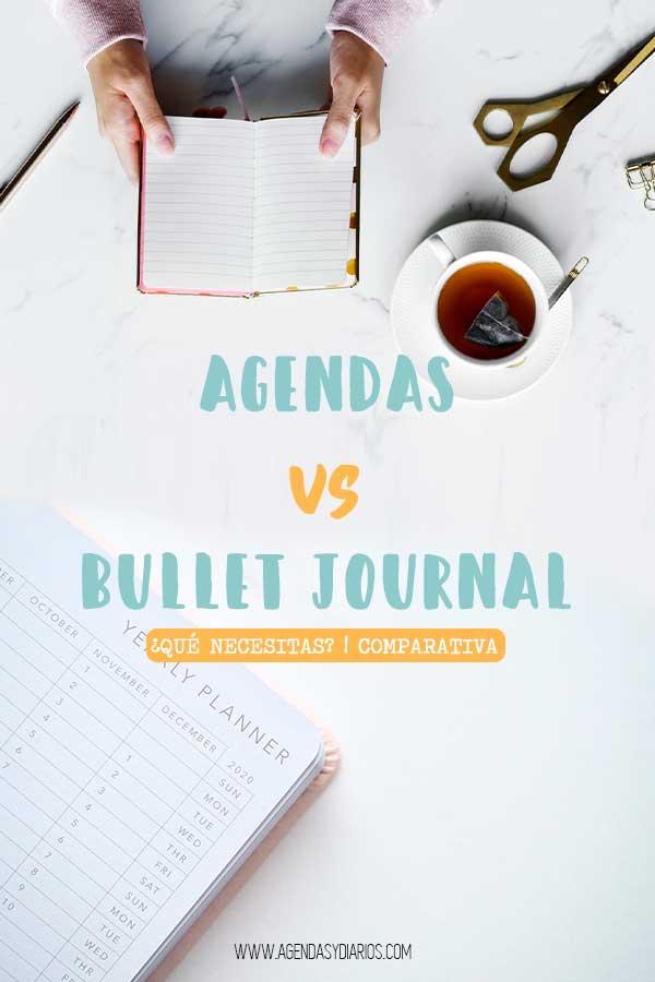 diferencia agenda bullet journal organización productividad